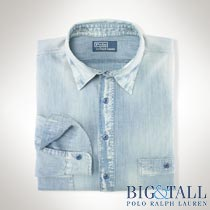 �礭���������Υ��ե?��� : Classic-Fit Chambray Workshirt [����ȥ饽�եȥ����֥졼ŵ�����]