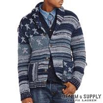 デニム&サプライ/ラルフローレン : Americana Cotton Cardigan [コットン/アメリカンフラッグ/ショールカーディガン]