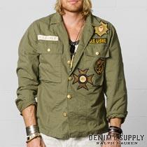 �ǥ˥�&���ץ饤 : Military Shirt Jacket [�ߥ�����ĥ��㥱�å�]