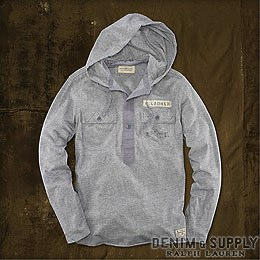 Denim & Supply Ralph Lauren���ǥ˥� & ���ץ饤 ���ե?��� : Cotton Jersey Hooded Henley