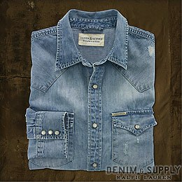 Denim & Supply Ralph Lauren���ǥ˥�����ץ饤 ���ե?��� : Bleached-Out Denim Western