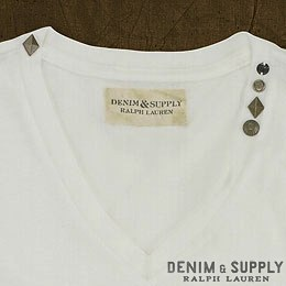 Denim & Supply Ralph Lauren���ǥ˥�����ץ饤 ���ե?��� : Short-Sleeved Jersey V-Neck
