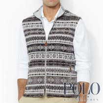 �ݥ� ����ա����ե?��� : Fair Isle Fleece Vest [����ȥ饽�եȥե꡼�����ե��������������٥���]
