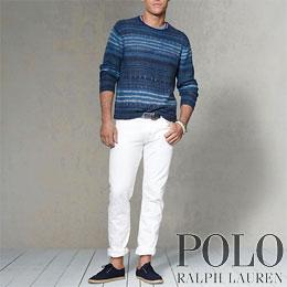 ポロラルフローレン : Striped Blanket Sweater [リネンコットンセーター]