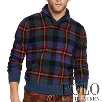 �ݥ���ե?��� : Plaid Shawl-Collar Sweater [��०���롿�����å������硼�륻������]