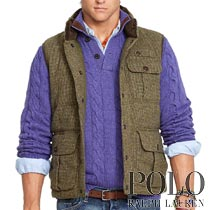 �ݥ���ե?��� : Quilted Tweed Down Vest [������ĥ����ɡ�������٥���]