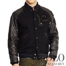 �ݥ���ե?��� : Leather-Sleeved Wool Jacket [�����롿�쥶��µ�����������]