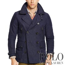 �ݥ���ե?��� : Moto Cotton-Blend Pea Coat [���åȥ�ʥ���󡿥饤�������ǥ����󡿥饤�ʡ��٥����դ����ԡ�������]