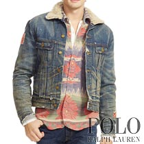 �ݥ���ե?��� : Faux-Shearling Denim Jacket [���᡼�����ܥ��ߡ��ͥ��ƥ��ֻɽ����ǥ˥ॸ�㥱�å�]