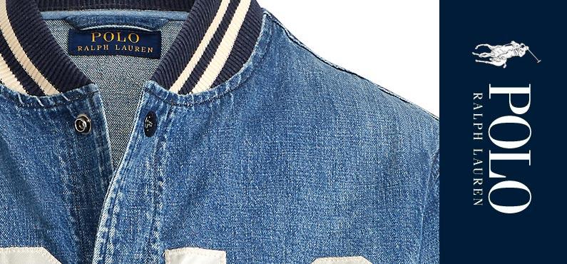 0257564bda3d ポロラルフローレン/Polo Ralph Lauren   Varsity-Inspired Denim Jacket