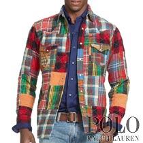 �ݥ���ե?��� : Patchwork Western Shirt [�ե��ͥ롿�ѥå����������ȡ����������ŵ�����]