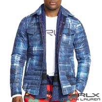 RLX/ラルフローレン : Plaid Down Jacket [チェックパッチワークプリント/ダウンシャツジャケット]