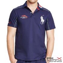 RLXテニス : US Open Pima Linesman Polo [全米USオープンテニス2015/ラインズマン/ストレッチ/半袖ポロシャツ]