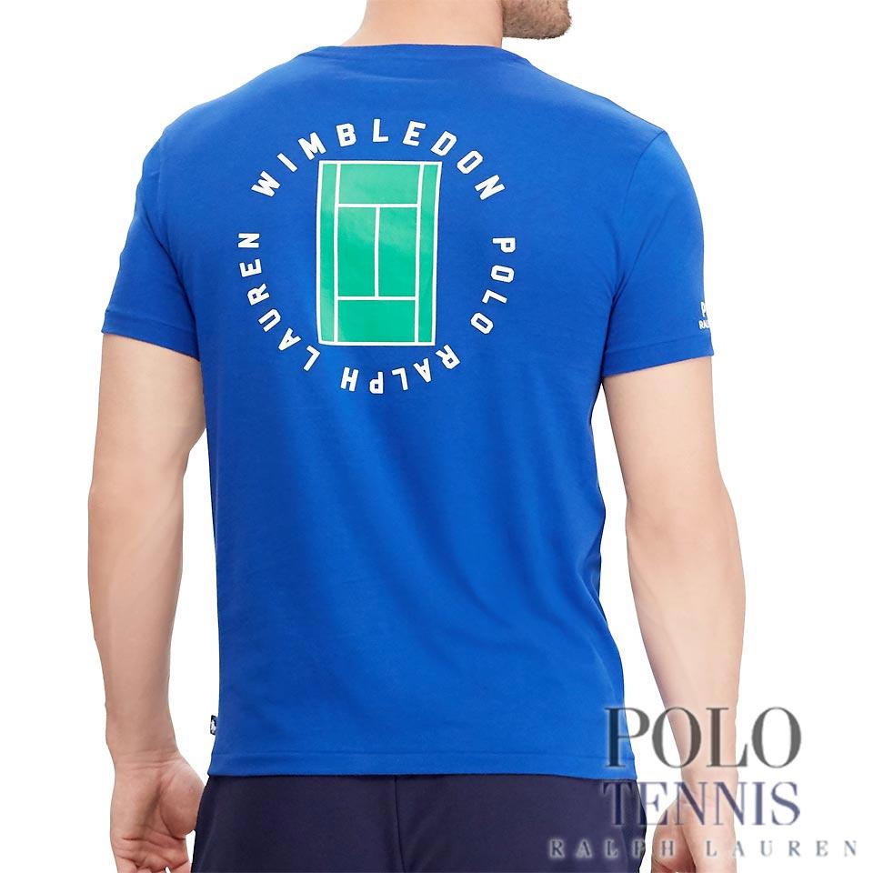 6e7aff487c ポロテニス : Wimbledon Custom Slim T-Shirt  [全英ウインブルドンテニス2018/半袖Tシャツ]▼まとめ割対象▼[アメリカラルフローレンお取り寄せ]